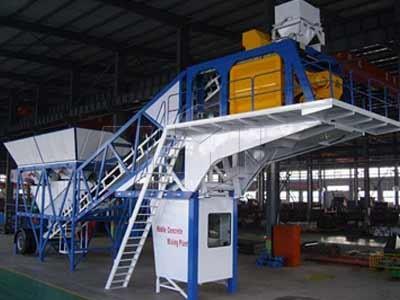 YHZS 50 Planta de hormigón móvil (50m3 / h)