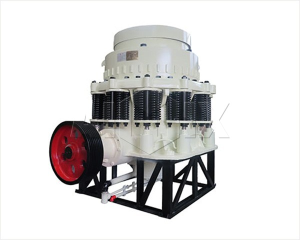 Cone crusher with spring