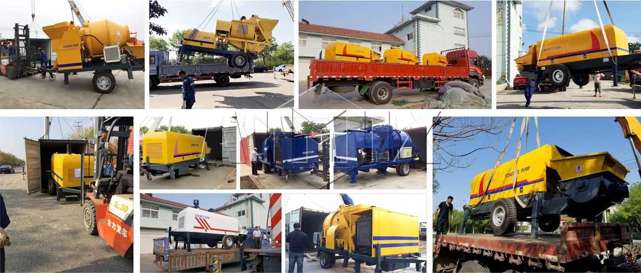 AIMIX ha exportado muchas máquinas de bombeo de hormigón a las paíse.